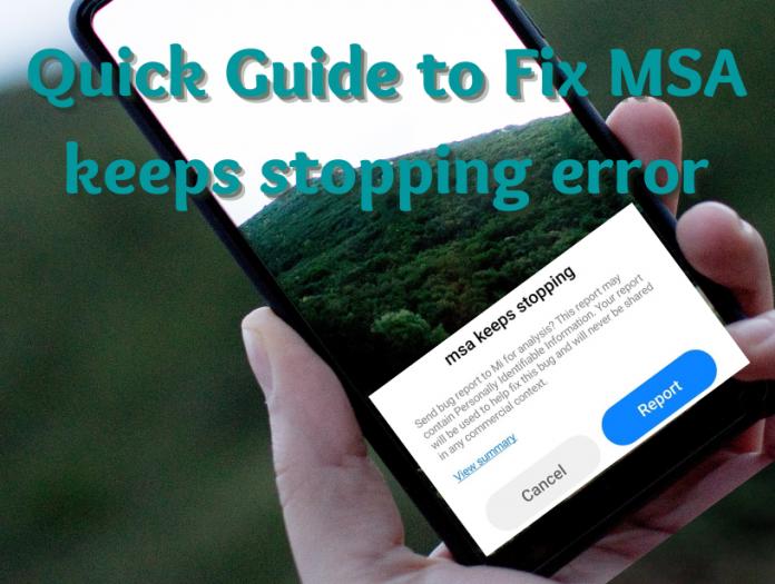 Fix MSA keeps stopping error