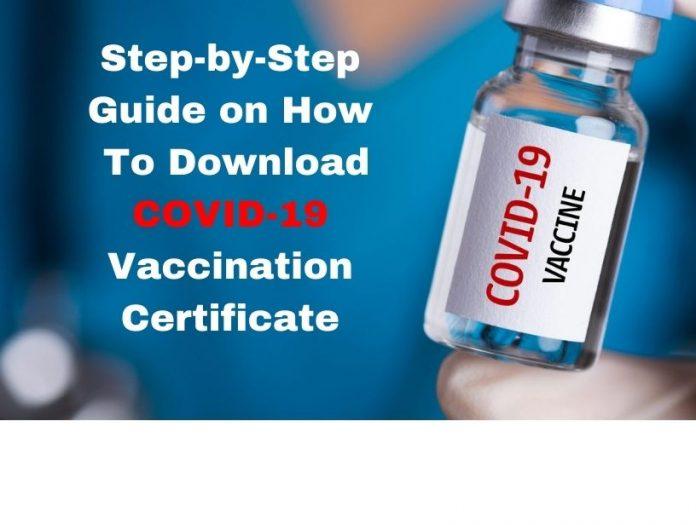 Covid vaccination certificate